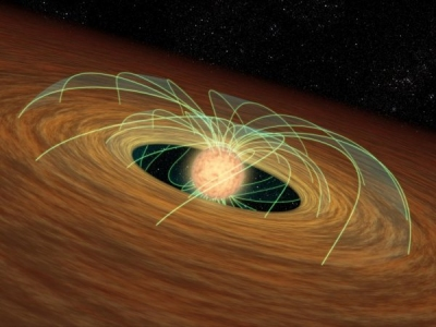 A Young Star-Disk System
