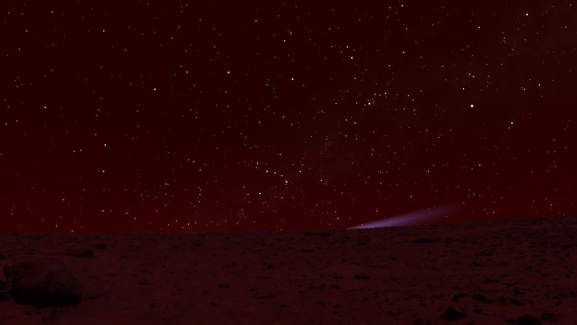View of Comet ISON from Mars