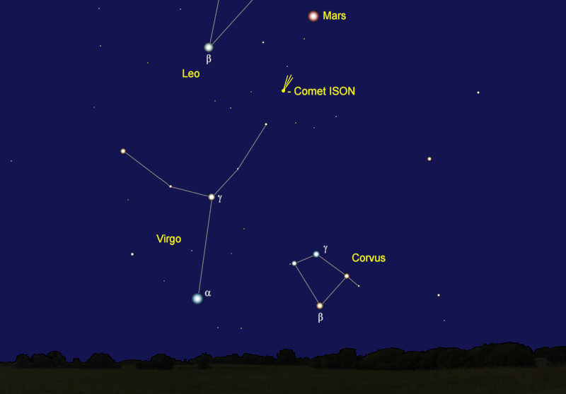 Comet ISON's Position in Early November