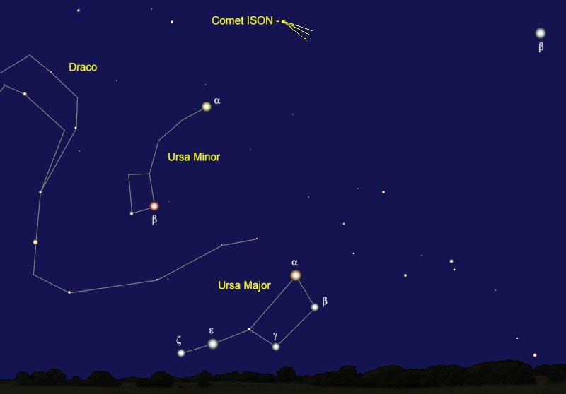 Comet ISON's Position in Mid-January