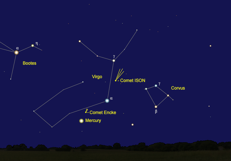 Comet ISON's Position in Mid-November
