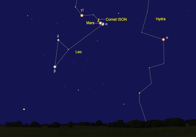 Comet ISON's Position in Mid-October